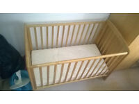 Free wooden cot and mattres