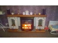 Handmade Large Fireplace with electric fire