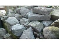 Buyer collects - approximate 65 rockery stones