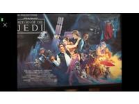 STAR WARS RETURN OF THE JEDI 1983 original vintage advertising poster british quad