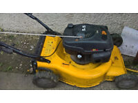 jcb lawnmower 5.5hp petrol push mower first class runner