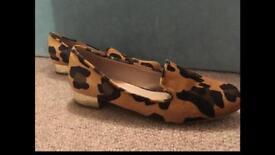 Topshop leopard print shoes