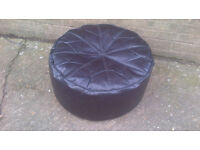 LEATHER FOOT STOOL A COUPLE OF TEARS – W60 X D60 X H30CM - £3.50