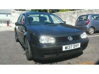 "5dr VW Golf GT Tdi 1.9 PD115 Black, long MOT, 18"" RS6 alloys, full leather/elec, Swap / px leon, bmw"