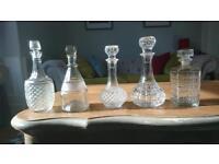 Cut glass wine decanters vintage wedding