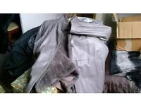 ladies leather 3/4 coat