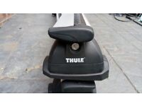 Thule wing bars and foot pack/ mounts for a BMW 1 series (may fit other BMW's)