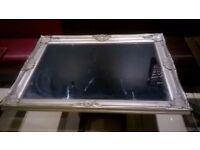 Large ornate silver framed mirror excellent central London bargain