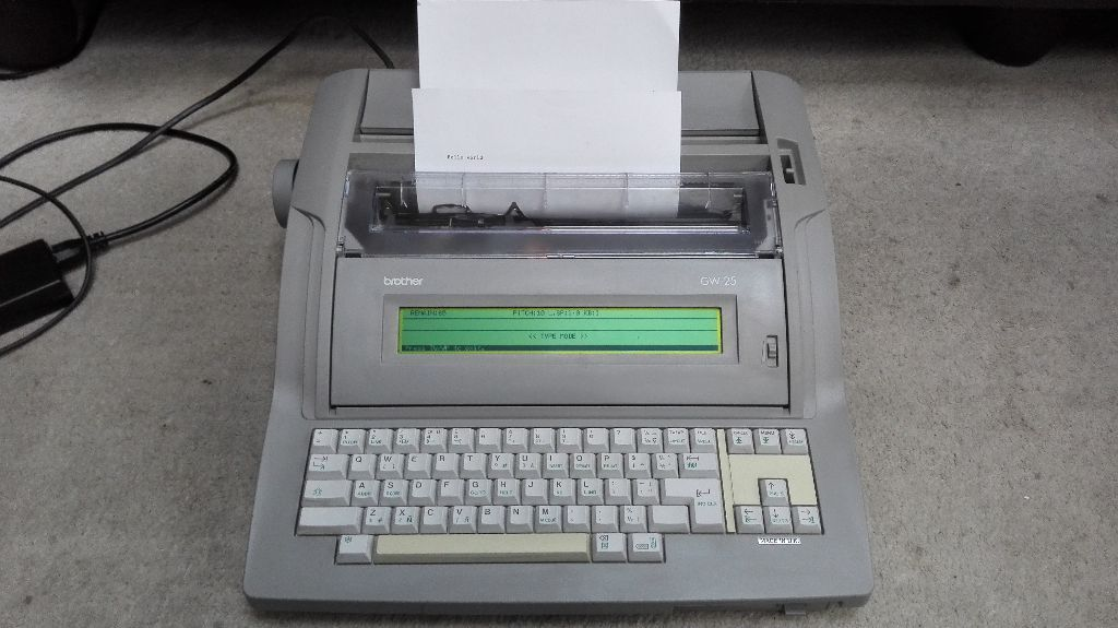 Brother GW 25 Electronic Word Processor Typewriter In Good Working Condition With Spare Ribbons