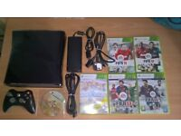 XBOX 360S 250GB 6 Games, 1 Controller Good Condition