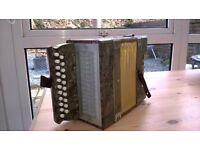 8 and 1/2 inch tall 2-row 8 bass A/D melodeon