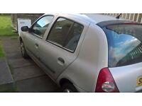 Renault Clio 02 sales or repairs