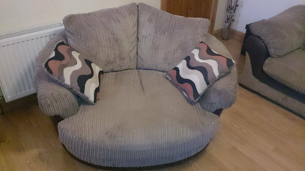 Two Cuddle Chairs Swivel Not Leather Sofa Seater Maybe Thrown