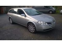 2005 NISSAN PRIMERA 1.8 ESTATE, 92,000 MILES, 12 MONTHS MOT, SAT-NAV, PARKING CAMRA, NICE CAR,