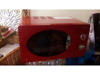 Brand New Red Microwave For Sale