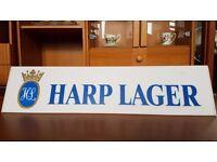 Vintage Illuminated HARP Lager Signs