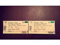 Selling 2 Tickets for India V Eng ODI