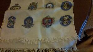 Vintage silk scarf with curling club logos West Island Greater Montréal image 1