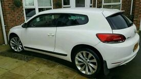 White Volkswagon Scirocco 2.0 GT TDI (140) 59 Plate - FOR SALE