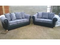 Brand New 3+2 Seater Sofas Leather&Material Unused Still In Wrappers Can Deliver
