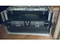 "19"" rackmount flightcase for cd players dj mixers etc"