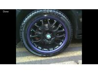 """Bbs alloy 16"""" wheels with tyres fit vw audi seat skoda"""