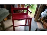 Garden Chair made from 100% recycled timber.