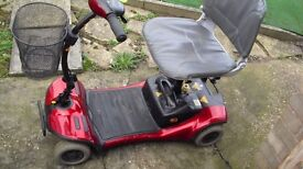 mobility scooter shoprider cameo 0-4mph fits in car boot brand new batteries fitted