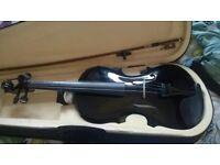 4/4 beginners black violin