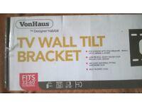 """VONHAUS TV WALL TILT BRACKET FITS 33"""" TO 60"""" SCREENS"""