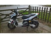Piaggio NRG, couple of scratches on the body and a bent brake but nothing serious