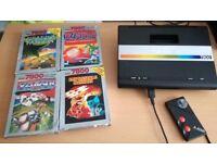 ATARI 7800 CONSOLE AND GAMES