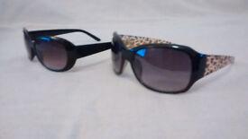 9x FASHION SUNGLASSES (8x black frames, 1x leopard print frame)