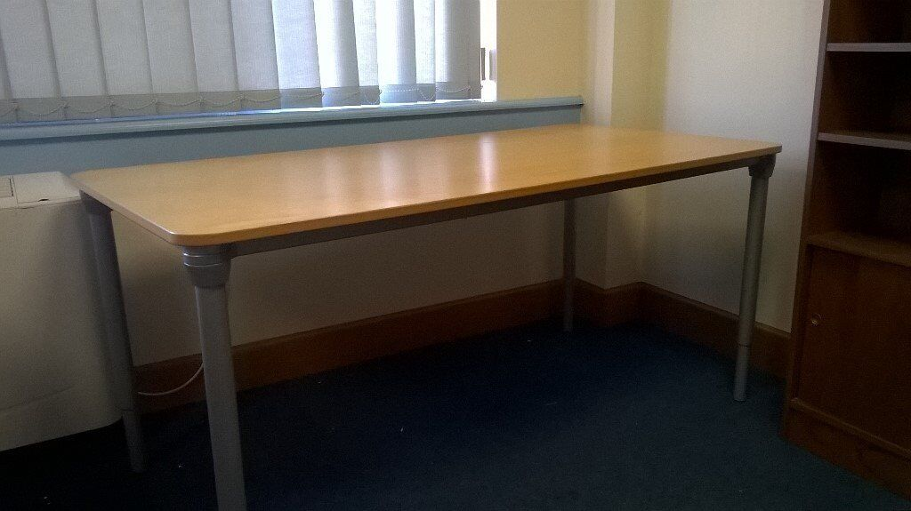 sturdy office desk.  Office Office Desk Work Table  160x80cm Very Sturdy Height Adjust 6090cm For Sturdy