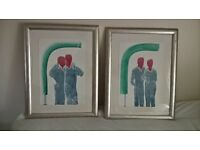 Pair of Framed Modern Limited Edition Prints by Richard Heraud