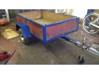 CAR TRAILER FACTORY BUILT 5FT L X 3FT W DROOP DOWN BACK DOOR cover /ladder rack