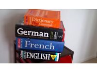 English, French, German and Spanish Dictionaries
