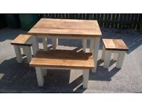 HAND BUILT SOLID CHAIRS,BEDS,TV UNIT,DRESSERS,DINING/COFFEE TABLES,GARDEN&PATIO BENCHES FROM £49