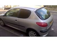 Peugeot 206 LX 1.4 Bargain £300. Great condition inside & out, NEW DISCS/PADS, MOT 10 MONTHS