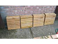 20 Garden Wooden Decking Tiles 45cm by 45cm £50 or Make Me An Offer