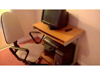 childrens computer desk and chair in good condition
