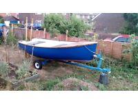Rowing Boat and Trailer 12 feet by 5 feet AKA Tender Fishing (12' x 5')