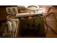 Wii remote games playstaion 2 slim