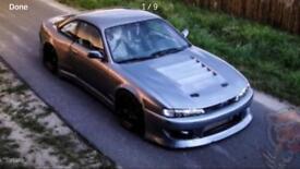 Nissan 200sx s14a D Max carbon fibre bonnet sr20det s14 s13 conversion drift