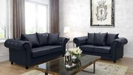 **X-Mass SALE** NEW Luxury CHESTERFEILD LEATHER 3+2 seater sofa Luxury