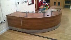Un-used Curved Reception Desk