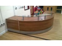 Un-used Curved Reception Desk
