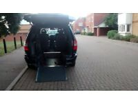 Wheelchair adapted Chrysler Voyager.
