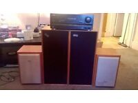 Pioneer amp and Sanyo speakers