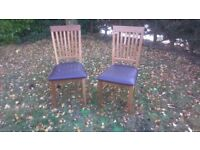 2 NEXT dining chairs in good condition generally.